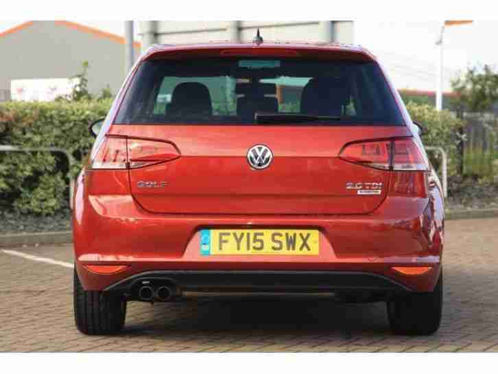 2015 Volkswagen Golf New GT 2.0 TDI 150 PS 6-speed Manual 3 Door Diesel Red Manu