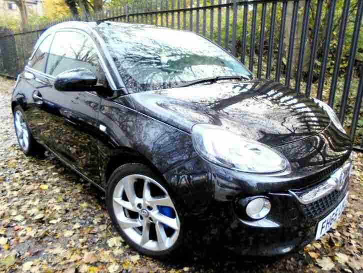 2015 vauxhall adam 1.2 SLAM 3dr black FSH 1 OWNER ideal FIRST CAR PX corsa agila