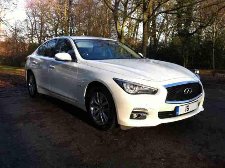 2016 16 INFINITI Q50 PREMIUM D AUTO,METALLIC WHITE,GRAPHITE LEATHER,SAT NAV