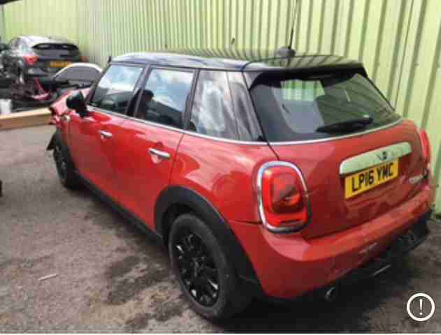 2016 (16) Mini 1.5 Cooper SALVAGE DAMAGED REPAIRABLE
