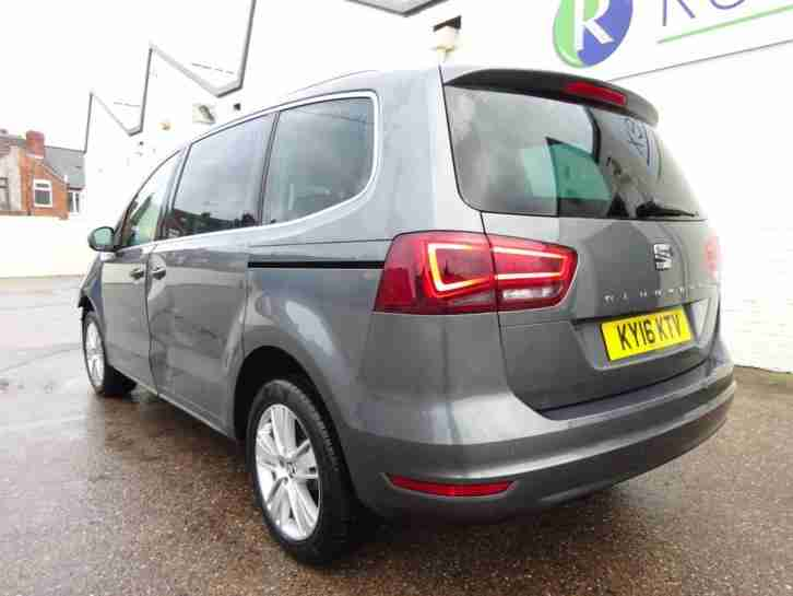 2016 16 REG SEAT ALHAMBRA 2.0TDI DIESEL NEW SHAPE 7 SEATER CAT D DAMAGED SALVAGE