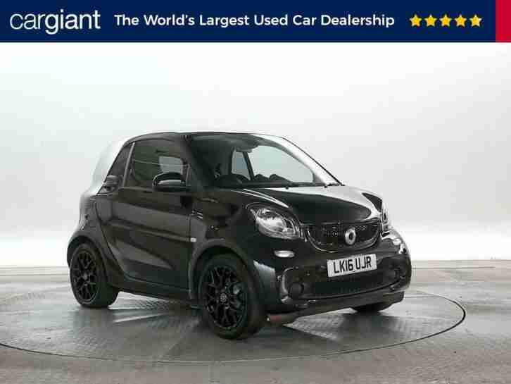2016 (16 Reg) Smart Fortwo 1.0 Black Edition Black COUPE PETROL AUTOMATIC