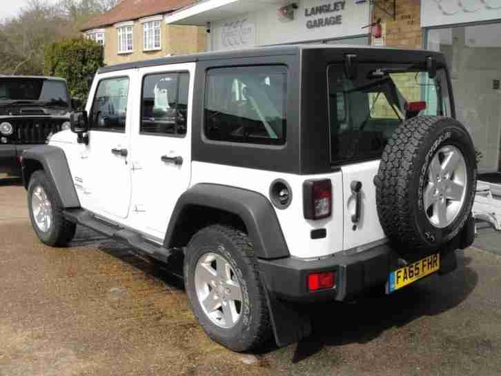 2016 65 JEEP WRANGLER 3.6 V6 PETROL AUTOMATIC UNLIMITED 5 DOOR WITH REMOVABLE HA