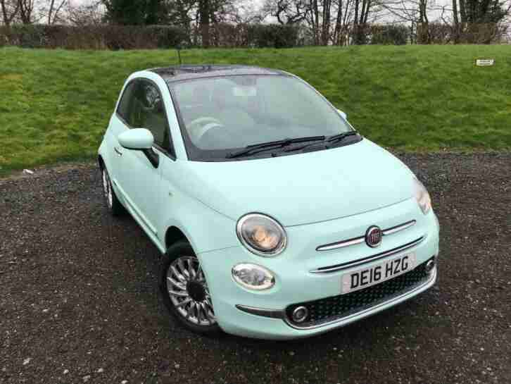 2016 Fiat 500 1.2 8V Lounge (s s) 3dr Petrol green Manual