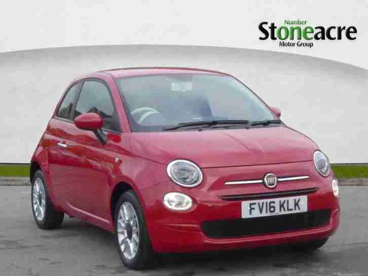 2016 Fiat 500 1.2 Pop Star Hatchback 3dr Petrol Manual (start stop) (110