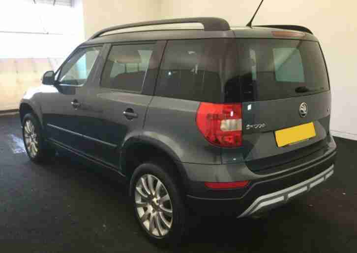 2016 GREY SKODA YETI OUTDOOR 1.2 TSI 110 SE DSG AUTO ESTATE CAR FINANCE FR £50PW