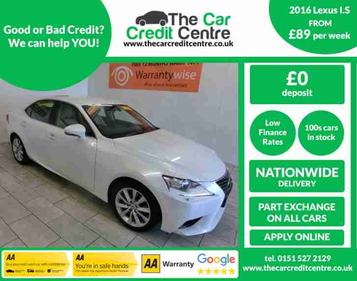 2016 Lexus IS 300h 2.5 223bhp E CVT Executive Edition BUY FOR ONLY £89 A WEEK
