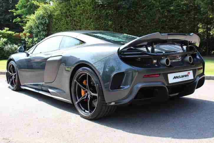2016 McLaren 675LT Coupe MSO Sarthe Grey with Extensive Carbon Fibre Petrol grey