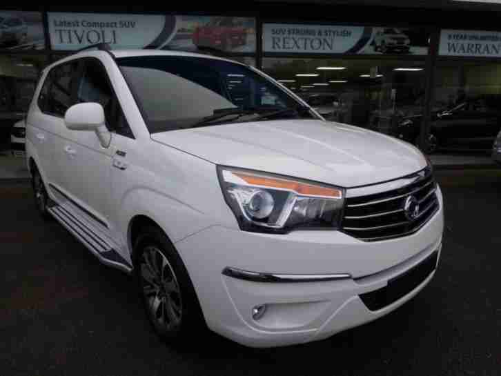 2017 66 SSANGYONG TURISMO 2.2 ELX AUTO WHITE EDITION PLUS DIESEL