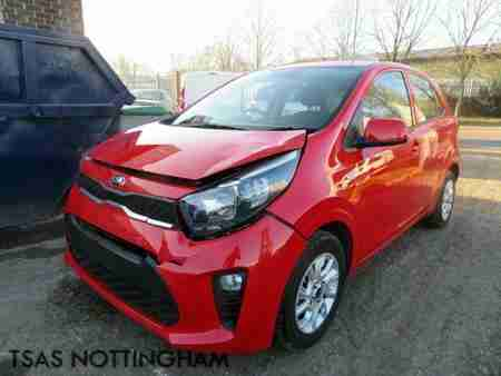 2018 Kia Picanto 2 1.0 66 Bhp ADAP Red Damaged Salvage