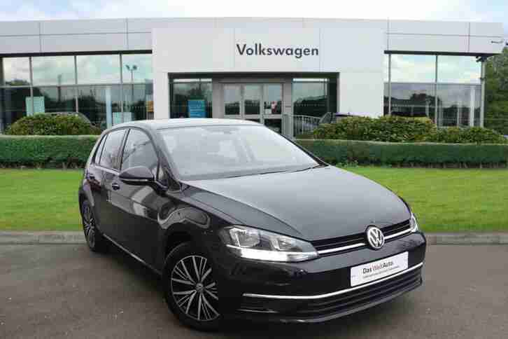 2018 Volkswagen Golf MK7 Facelift 1.6 TDI SE 115PS DSG 5dr Diesel black Semi Aut