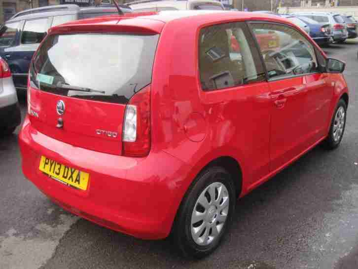 2103 13 plate Skoda Citigo 1.0 MPI ( 60ps ) Green Tech SE red 3 door