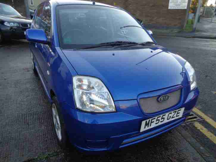 55 KIA PICANTO 1.1 GLAMOUR 5DR IN METALLIC BLUE WITH FULL SERVICE HISTORY
