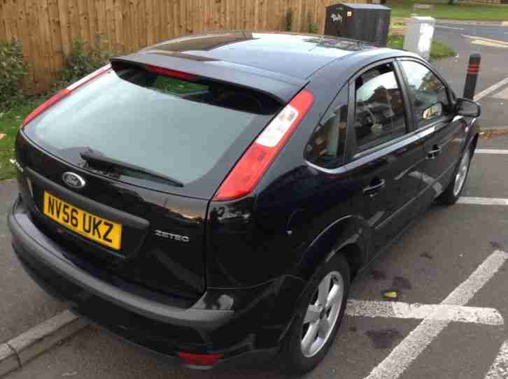 56 REG FORD FOCUS ZETEC CLIMATE 1.8 PETROL 95k MOT JUNE 2017 HPI CLEAR MET BLACK
