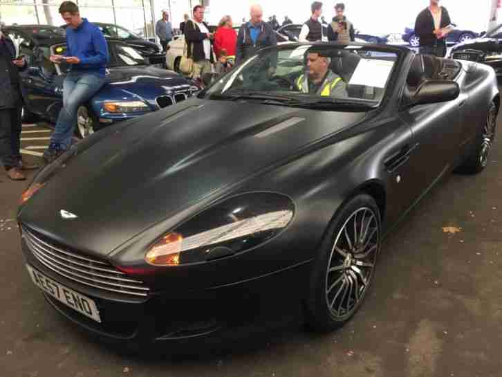 Aston Martin 57 Db9 5 9 V12 Volante Beautiful Matte Black Wrap