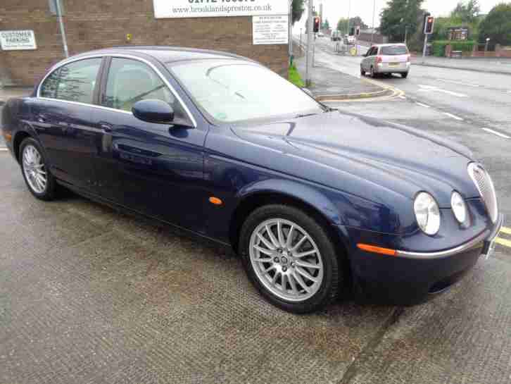 57 JAGUAR S TYPE 2.7D V6 AUTO XS IN METALLIC BLUE WITH CREAM LEATHER TRIM