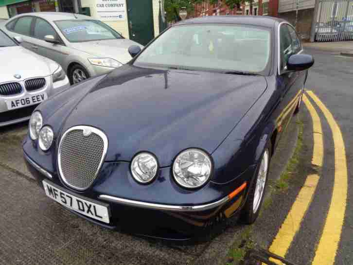 57 JAGUAR S-TYPE 2.7D V6 AUTO XS IN METALLIC BLUE WITH CREAM LEATHER TRIM
