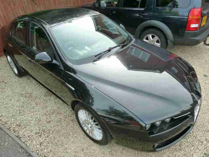 57 REG ALFA ROMEO 159 1.9 JTDM LUSSO 6 SPEED,BLACK LEATHER,69000 WARRANTED MILES
