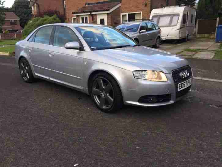 57 (reg) AUDI A4 2.0 TDI S LINE AUTO AUTOMATIC SILVER SALOON~~TOP OF THE RANGE