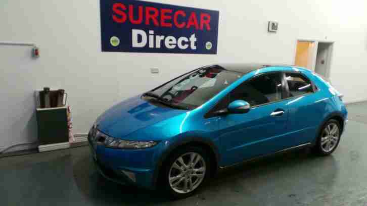 60 Plate Honda Civic 1.8 i VTEC ES 5Dr 77k in Cerulean Blue 1 OWNER !!