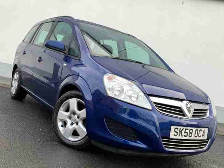7 SEATER VAUXHALL ZAFIRA 1.6 EXCLUSIVE FULL SERVICE HISTORY LONG MOT
