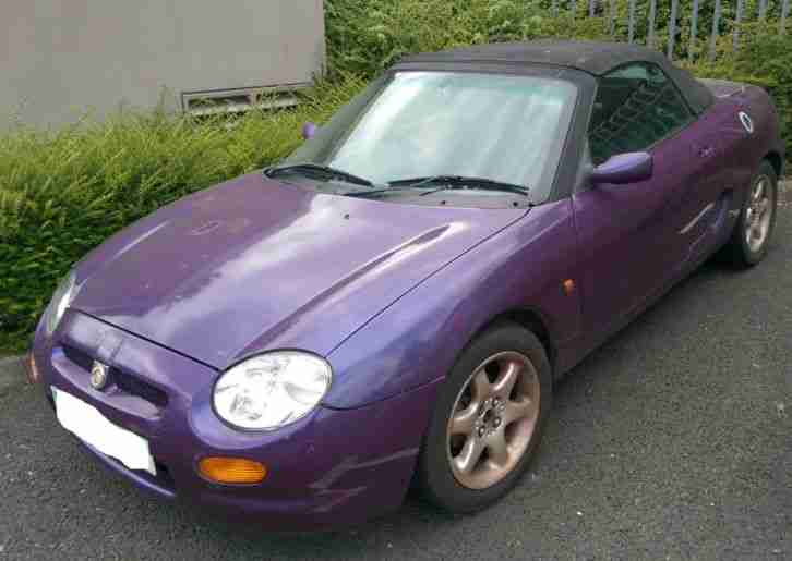 '97 ROVER MG MGF CONVERTIBLE SPORTS CAR 1.8L PURPLE - SPARES OR REPAIR NO MOT
