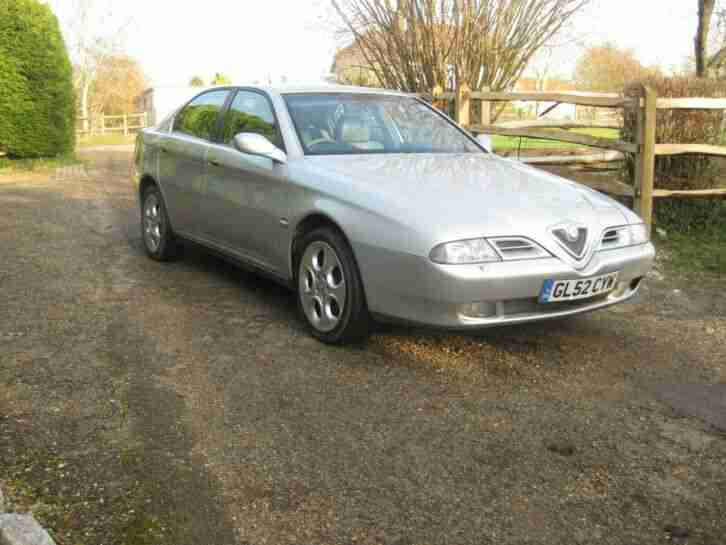 ALFA 166 LUSSO MANUAL 2002 2.0 TWINSPARK IN EXCELLENT CONDITION WITH GOOD S HIST
