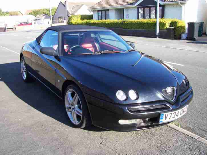 ALFA SPIDER T SPARK S2 BLACK WITH FULL RED