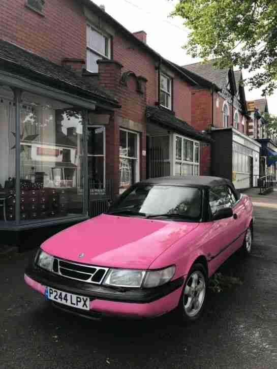 AMAZING PINK Saab 900 Convertible Cheap Must Go asap!