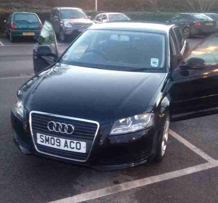 Audi A3 2009 Technik Sportback, 5 Door, Black Metallic