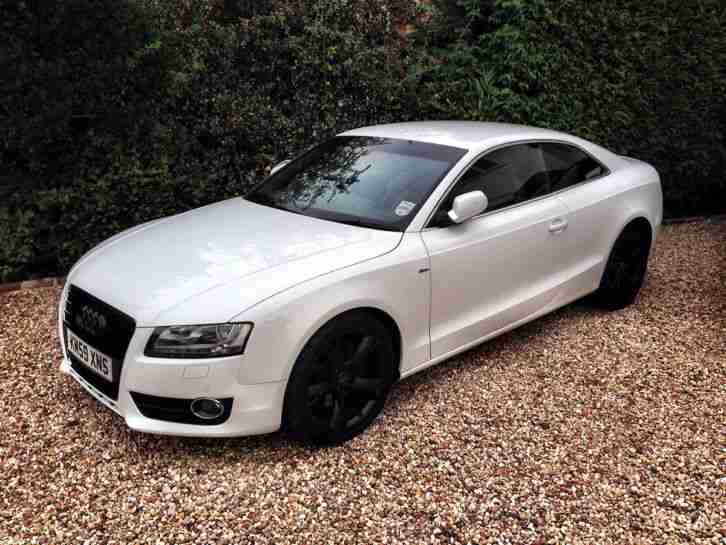 audi a5 sport 3 0 tdi quattro s line white 2009 car for sale. Black Bedroom Furniture Sets. Home Design Ideas