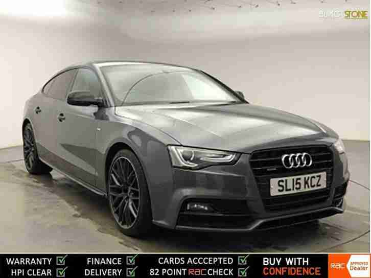 AUDI A5 TDi 177 Quattro S tronic S Line Black Edition Plus+ SAT NAV+DVD PLAYER