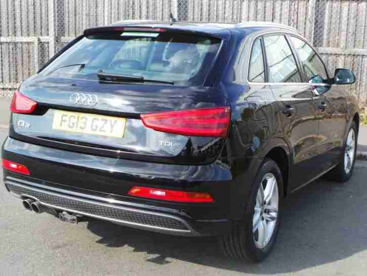 AUDI Q3 2.0 TDI S LINE 5DR ESTATE - BLACK