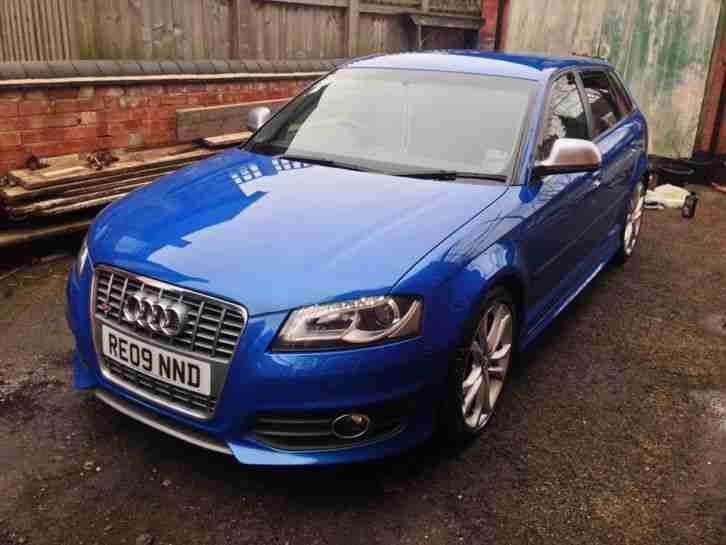 AUDI S3 2.0 turbo 2009 ALL EXTRAS sprint BLUE 5 door TOP SPEC! 265BHP HPI CLEAR