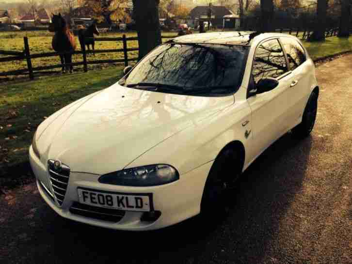 alfa romeo 147 collezione jtdm 2008 1 9 turbo 3 door white car for sale. Black Bedroom Furniture Sets. Home Design Ideas