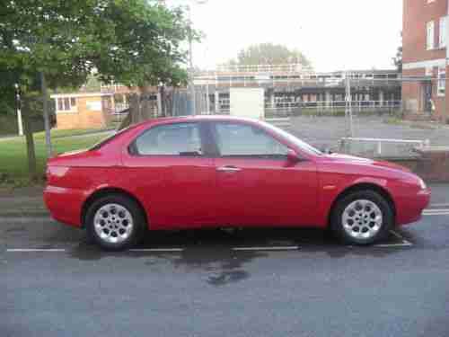 alfa romeo 156 1 6 twin spark lusso red 4 door 2002 mot to july. Black Bedroom Furniture Sets. Home Design Ideas