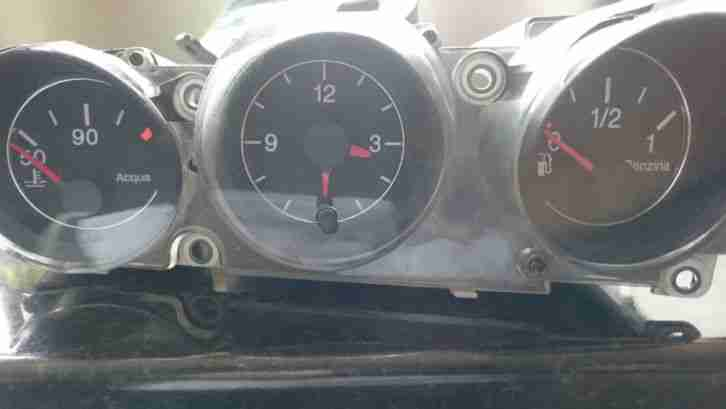 Alfa Romeo 156 3.2 GTA set of genuine clocks and pods ONLY