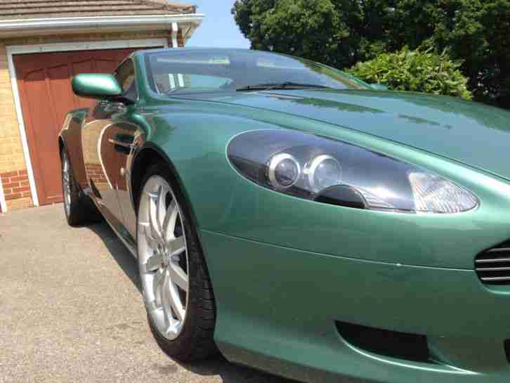 Aston Martin DB9 5.9 Seq, rare AM racing green with recent new engine at £14k