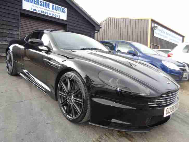 aston martin dbs 6 0 v12 2008 08 storm black w black leather car for sale. Black Bedroom Furniture Sets. Home Design Ideas