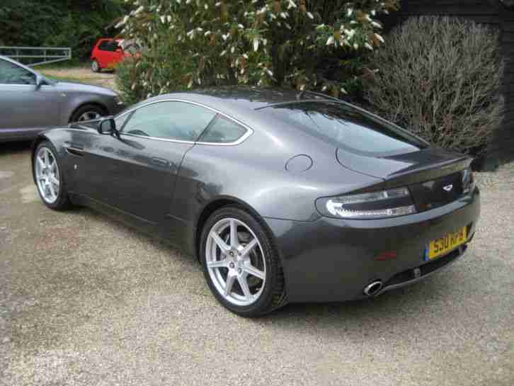 Aston Martin V Vanrage Meteorite Silver Black Leather Car - 06 aston martin vantage