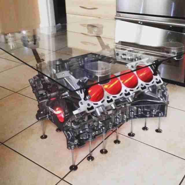 V8 Engine Coffee Table