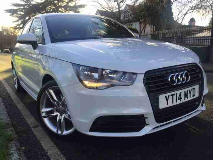 Audi A1 Tfsi 2014 S Line 5 Door Hatch In Gleaming White. Not damaged