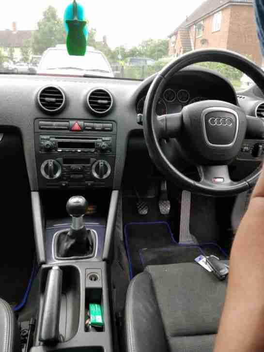 Audi A3 sline. Land & Range Rover car from United Kingdom