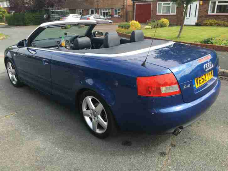 Audi A4 2.4 Sport Cabriolet in Stunning Blue Metallic with Full Leather