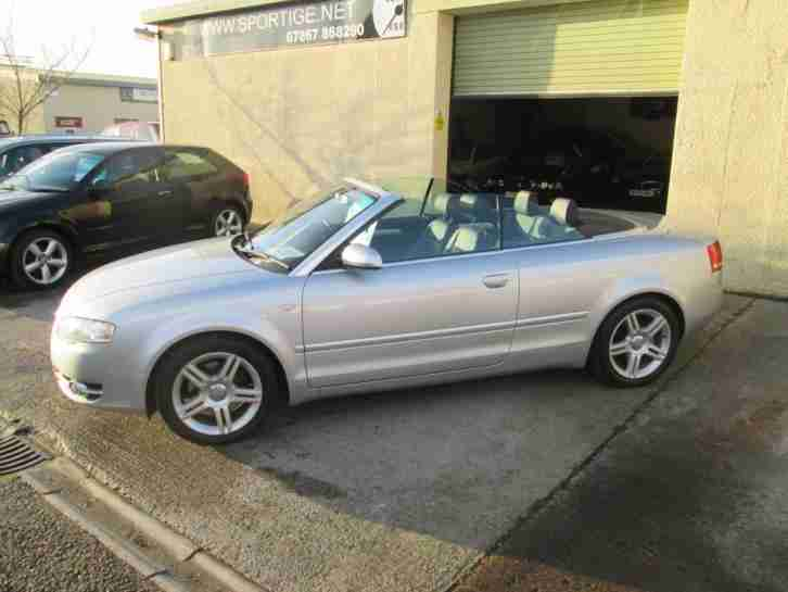 Audi A4 Cabriolet. Audi car from United Kingdom