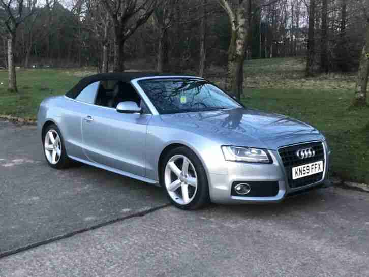 Audi A5 Convertible S Line 2.0 TDi 2009 excellent condition throughout