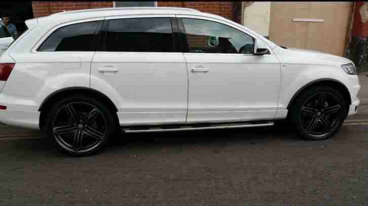 audi q7 2012 sline quattro 4x4 white 3 litre diesel 7 seater car for sale. Black Bedroom Furniture Sets. Home Design Ideas