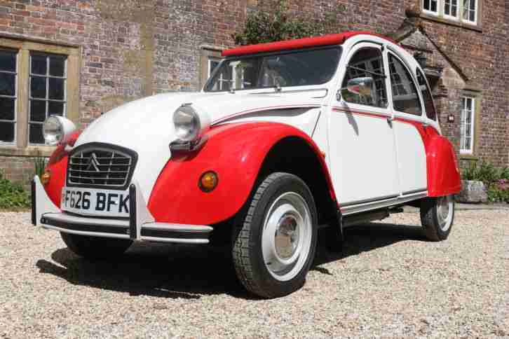 BEAUTIFUL 1988 CITROEN 2CV 2CV6 DOLLY RED WHITE ONLY 33,000 MILES