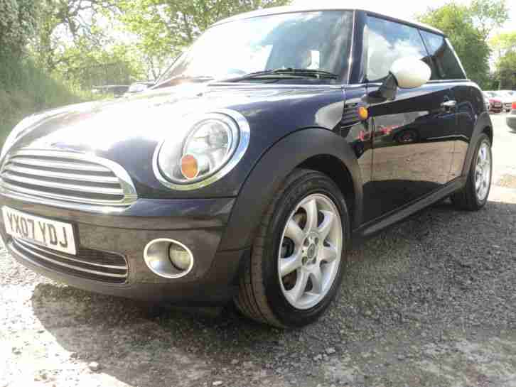 BEAUTIFUL 2007 BLACK MINI COOPER 1.6 - MOT GREAT HISTORY LOVELY CONDITION