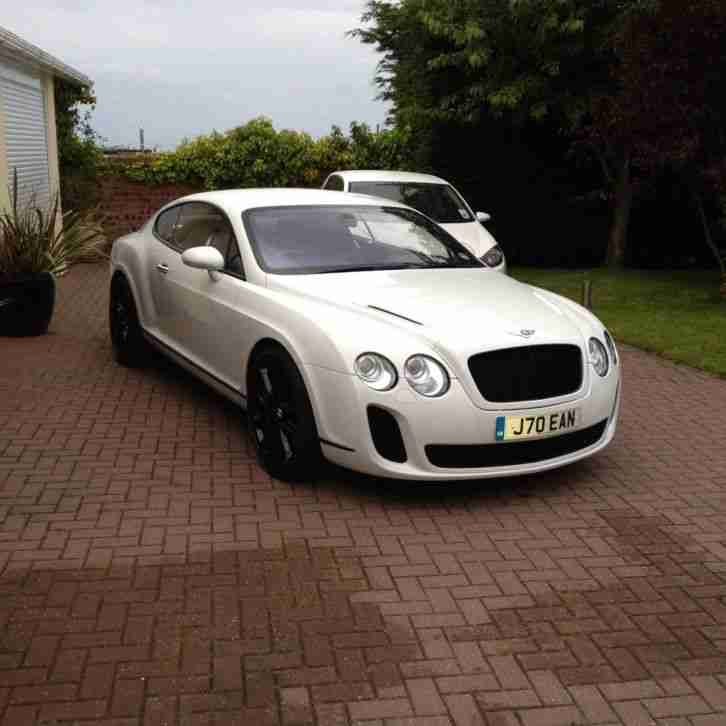 bentley continental gt white supersport car for sale. Black Bedroom Furniture Sets. Home Design Ideas